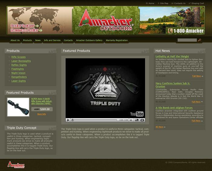 "Сайт компании ""Amacker"""